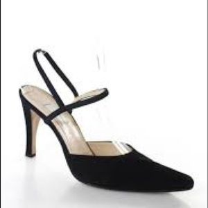 Vera Wang Suede Black  Ankle Straps Dressy Shoes